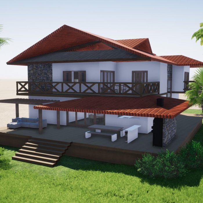 Projeto Casa Rústica
