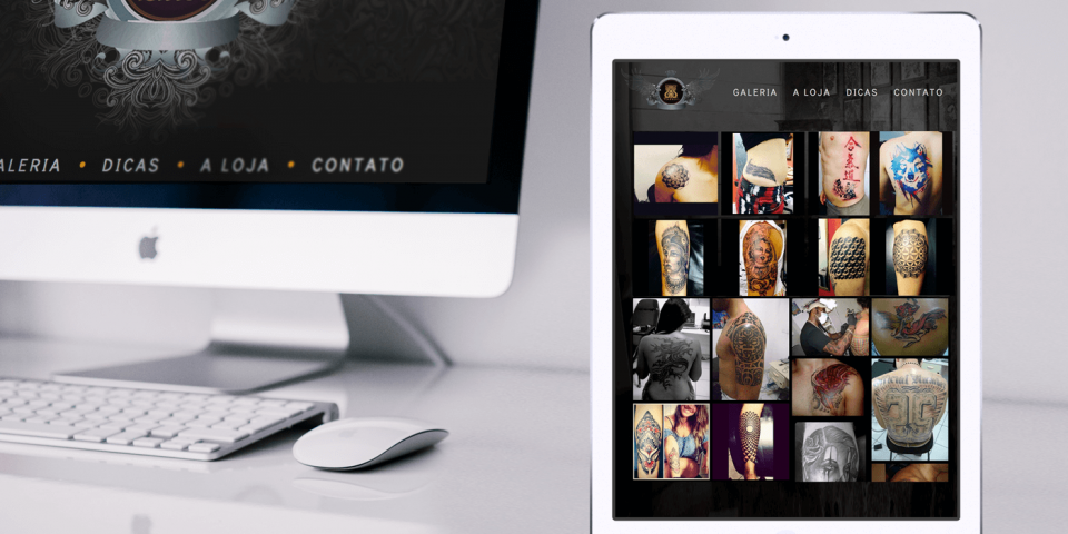 Site para estudio de tatuagem