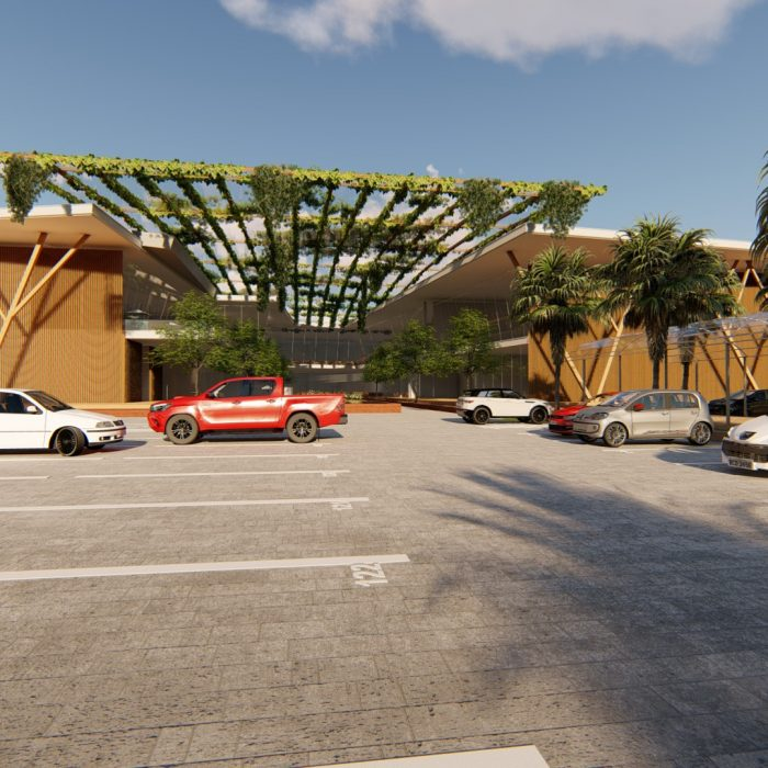 Projeto arquitetônico Shopping Center Open Mall