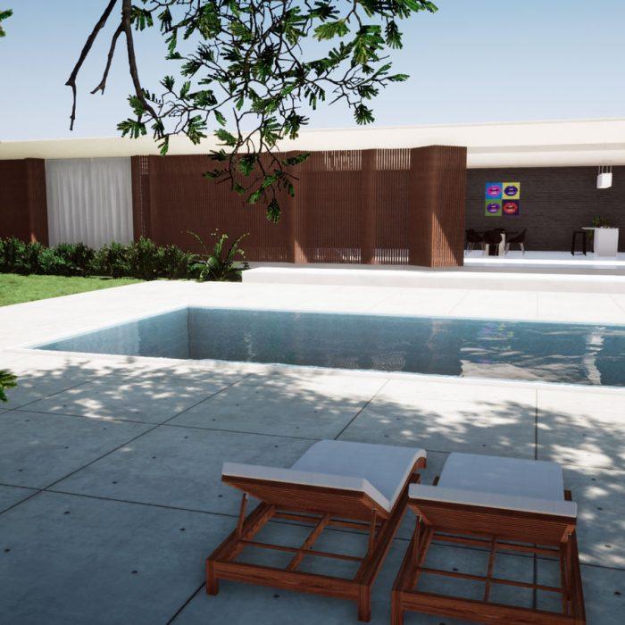 Projeto arquitetônico – Casa moderna com piscina