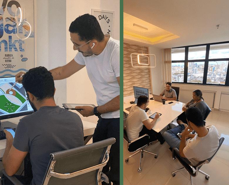arquitetos em reunião