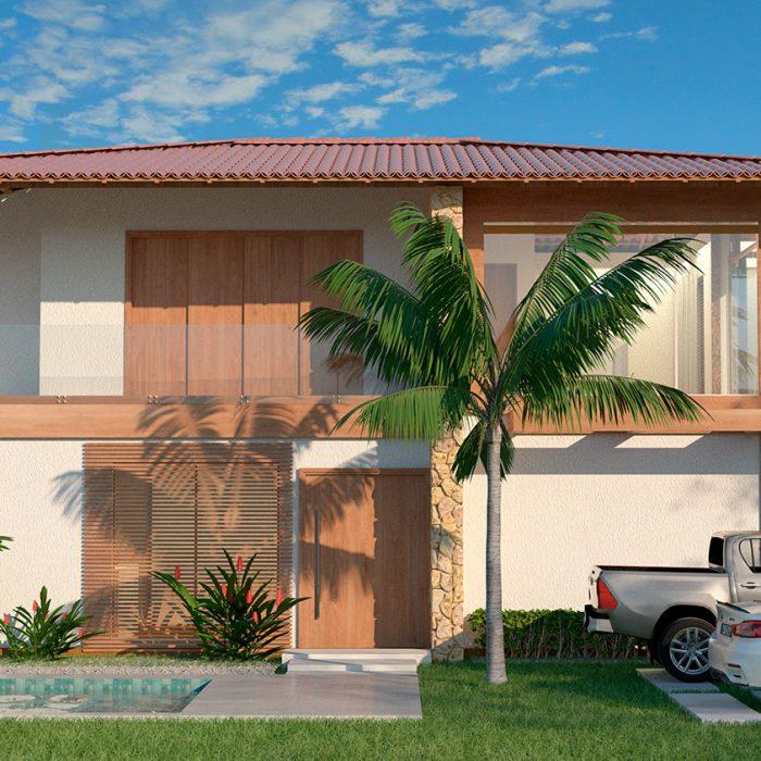 Projeto arquitetônico – Casa rústica em porto seguro